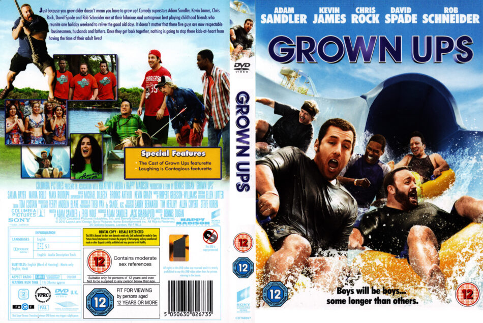 Grown Ups 2010 R2 Movie Dvd Cd Label Dvd Cover Front Cover