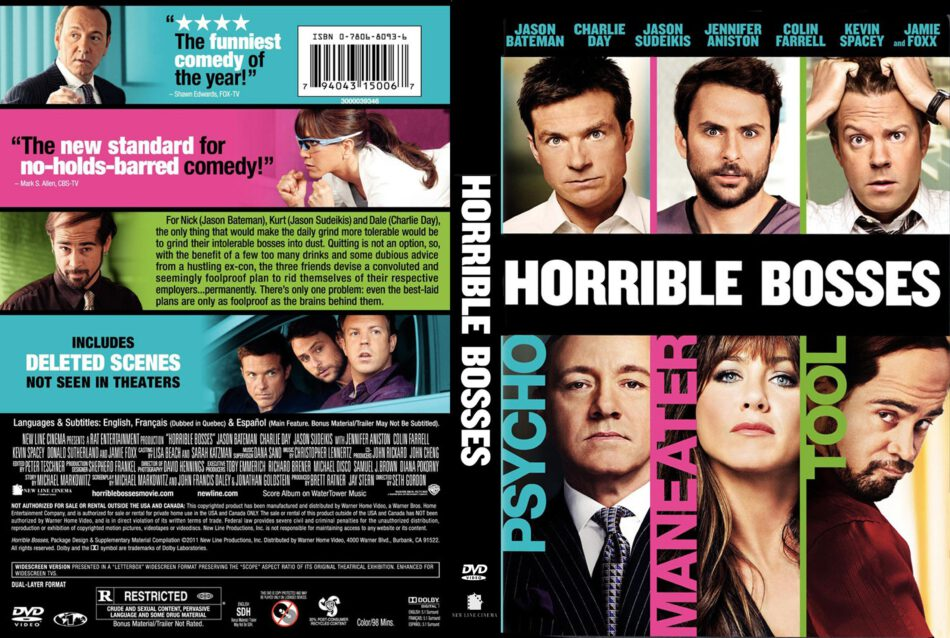 Horrible Bosses 2011 R1 Movie Dvd Cd Cover Dvd Cover Front Cover
