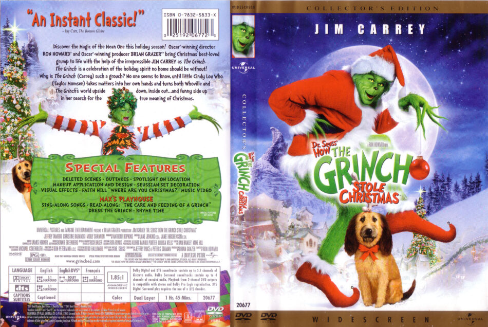 How The Grinch Stole Christmas 1966 Dvd.How The Grinch Stole Christmas Dvd Cover 2000 R1