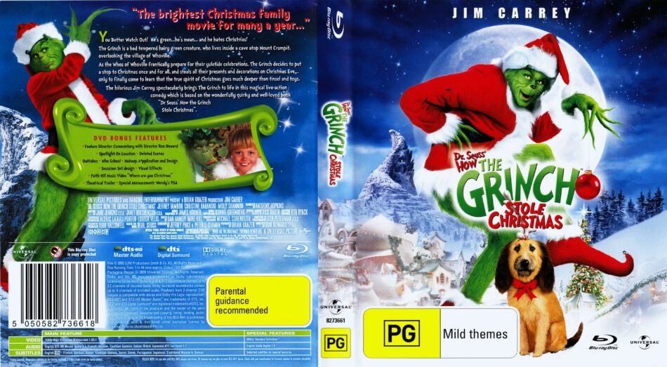 How The Grinch Stole Christmas 2020 Dvd Cover How The Grinch Stole Christmas (2000) WS R4   Blu Ray DVD   CD