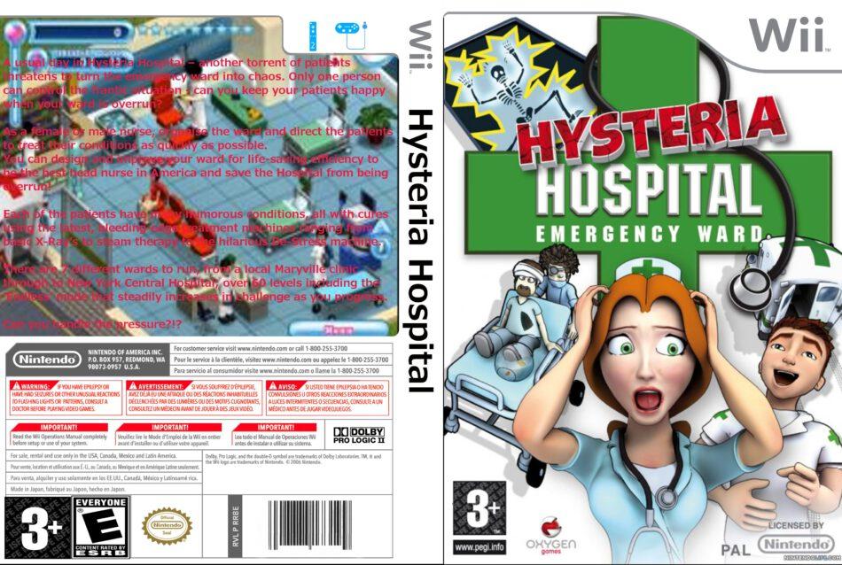 Hysteria Hospital: Emergency Ward | Wii | CD Cover, DVD