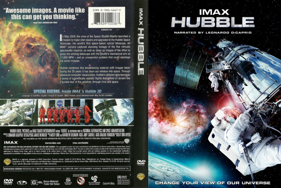 IMAX Hubble (2010) R1 - Movie DVD - CD label, DVD Cover, Front Cover