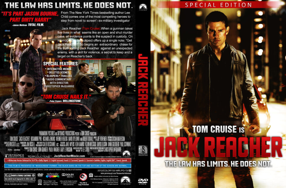 Jack Reacher 2012 R1 Movie Dvd Cd Label Dvd Cover Front Cover