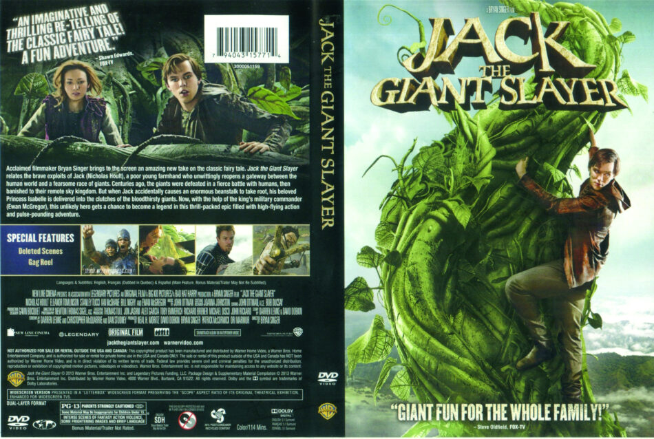 Jack The Giant Slayer 2013 Ws R1 Movie Dvd Front Dvd Cover