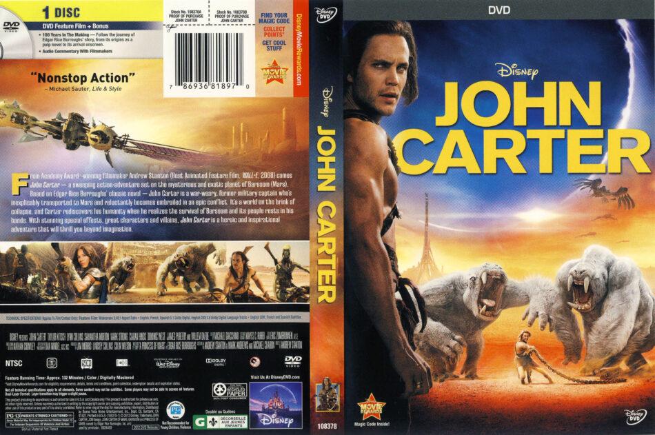 John Carter 2012 R1 Movie Dvd Front Dvd Cover