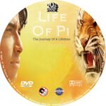 Life Of Pi (2012) R0 Custom DVD Labels