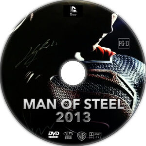 man of steel dvd label