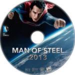 Man of Steel (2013) R1 Custom DVD Labels