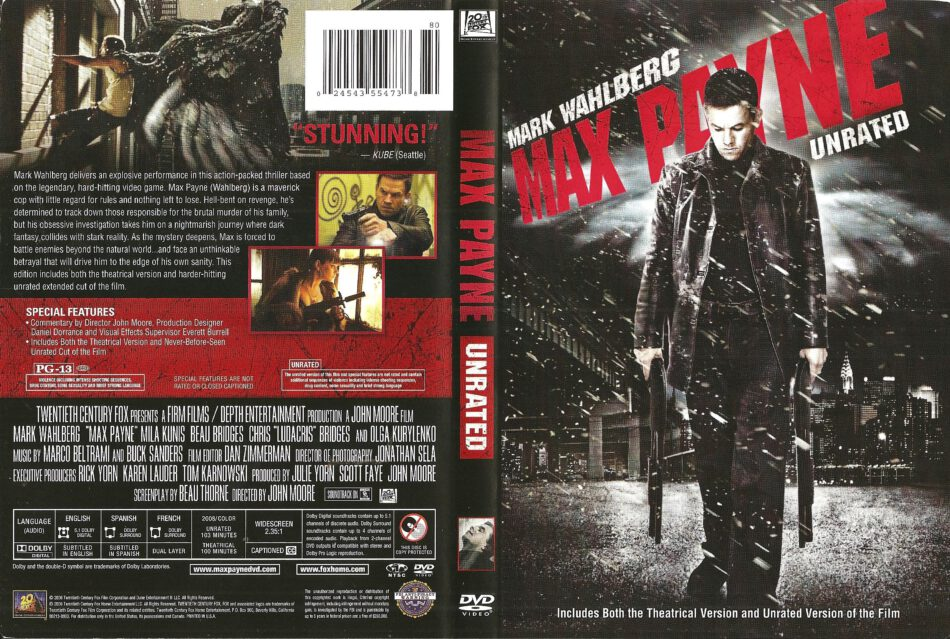 Max Payne 2008 Ws Ur R1 Movie Dvd Cd Label Dvd Cover Front