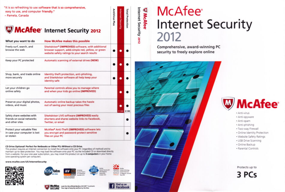 McAfee Internet Security 2012   PC Software   CD Cover, DVD Cover