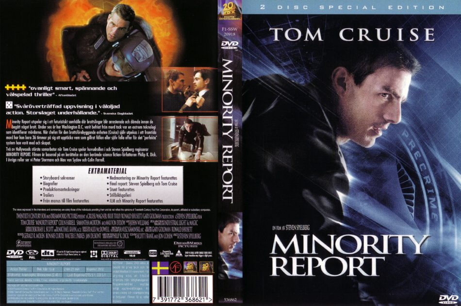 Minority Report 2002 R2 Movie Dvd Cd Label Dvd Cover Front Cover