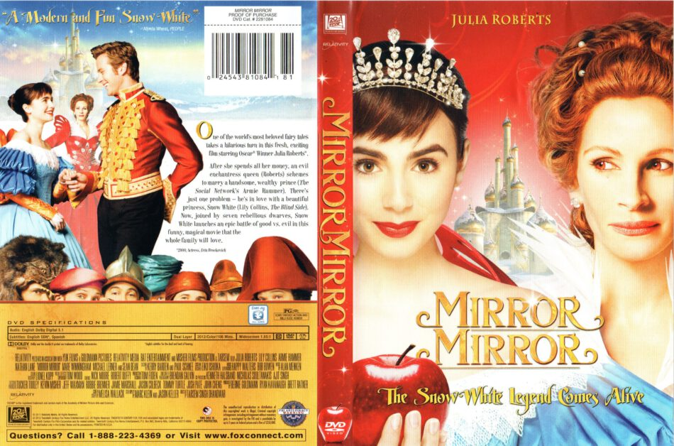Mirror Mirror 2012 R1 Movie Dvd Cd Label Dvd Cover Front Cover