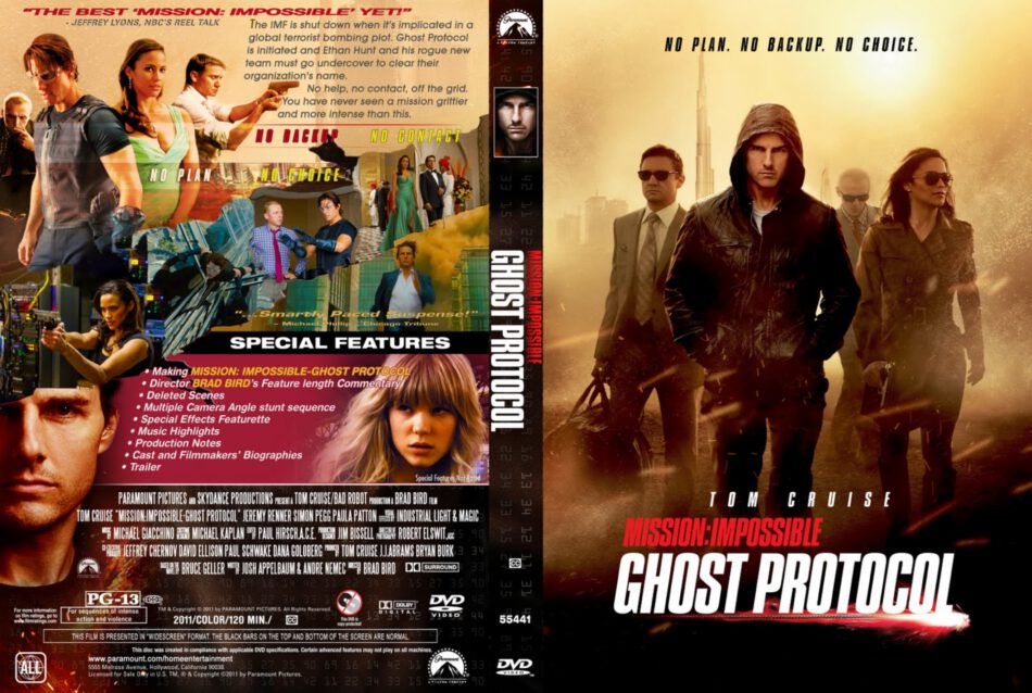Mission Impossible Ghost Protocol Cd Cover Front Cover