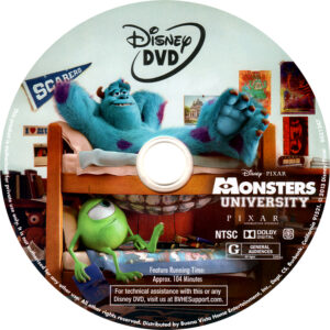 Monsters University cd cover
