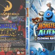 Monsters vs. Aliens Cloning Around (2013) R1 custom dvd cover