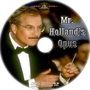mr hollands dvd label