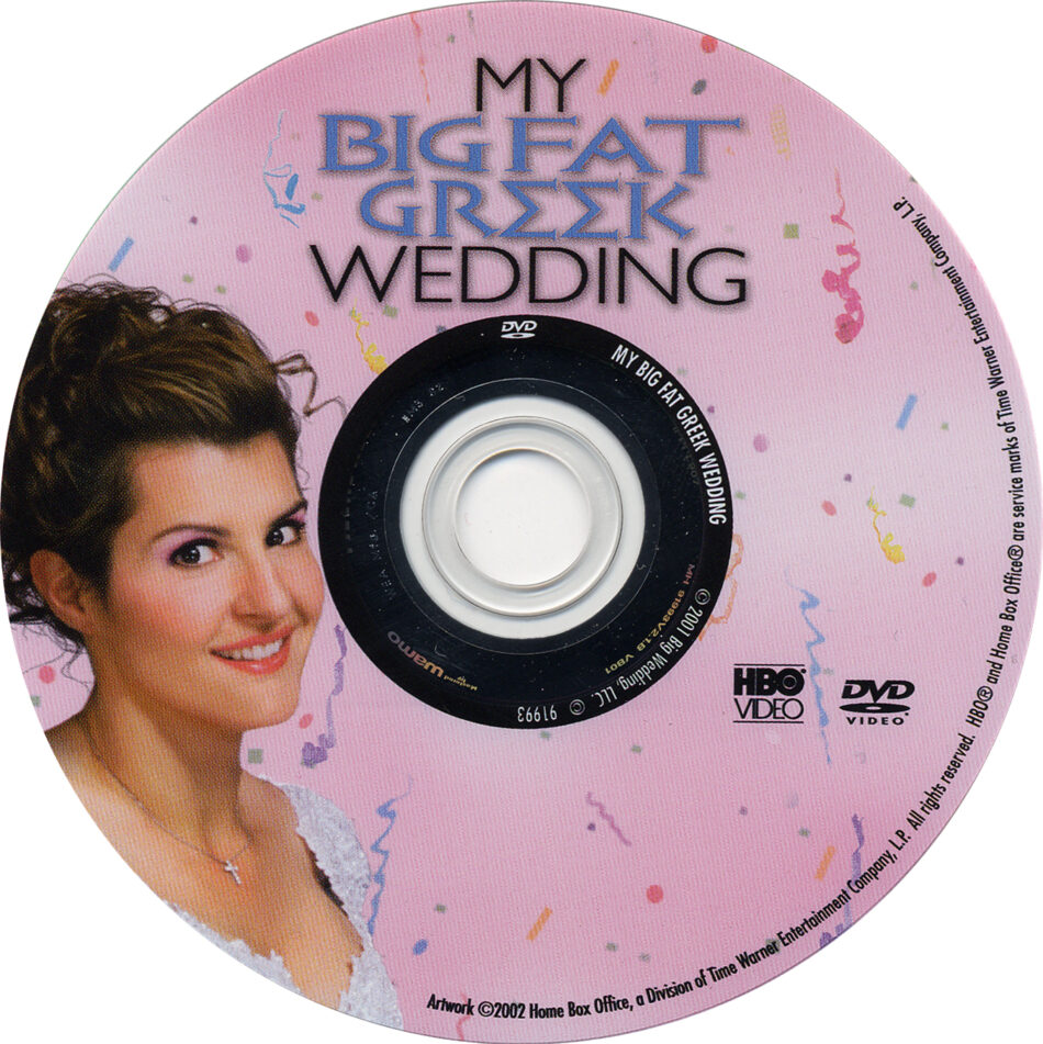 My Big Fat Greek Wedding 2002 R1 Movie Dvd Cd Label Dvd Cover Front Cover