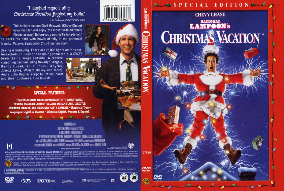 Christmas In Connecticut Dvd.Christmas Vacation 1989 Se R1 Movie Dvd Cd Label Dvd