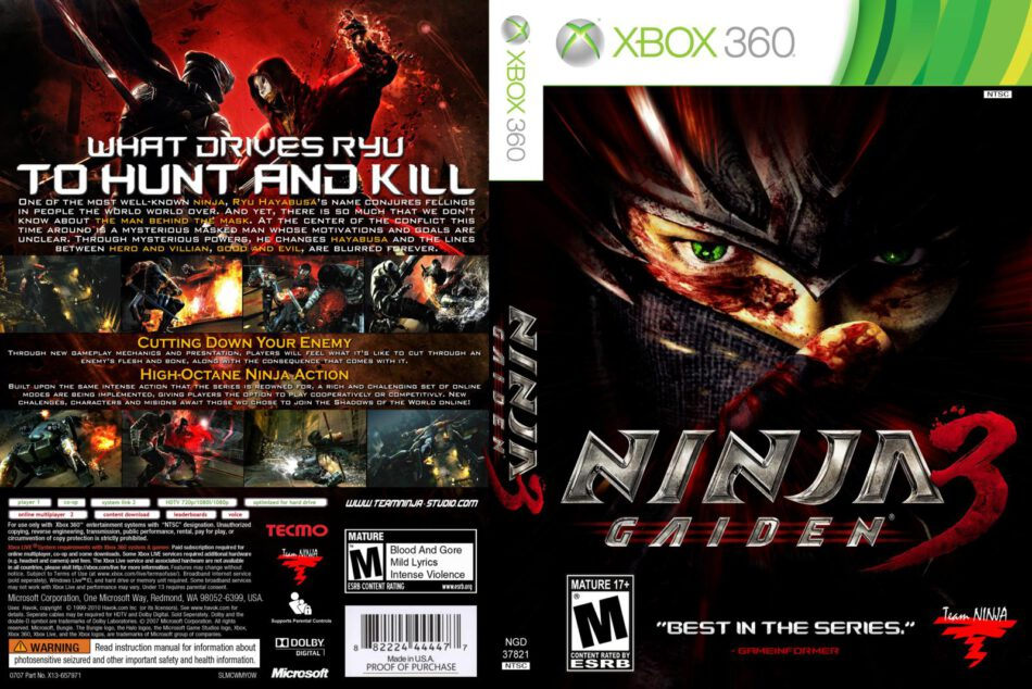 Ninja Gaiden 3 Cd Cover Front Cover