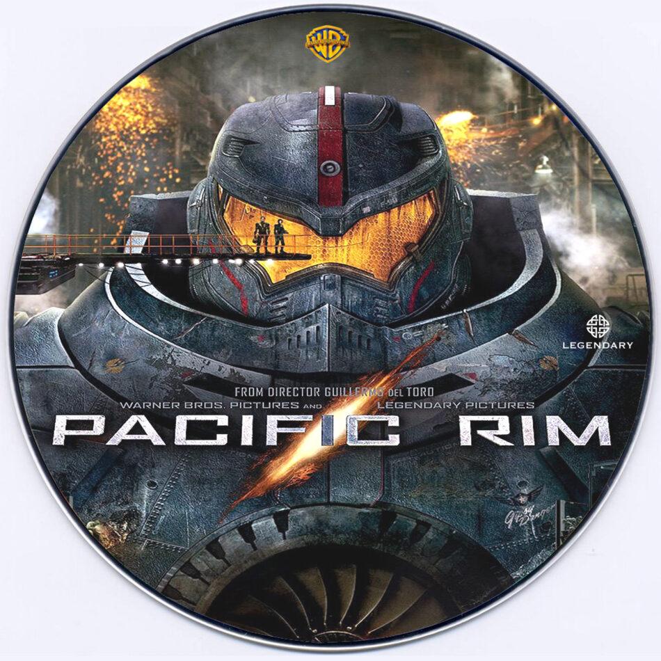 Pacific Rim DVD Label (2013) Custom Art Pacific Rim 2013 Dvd Cover