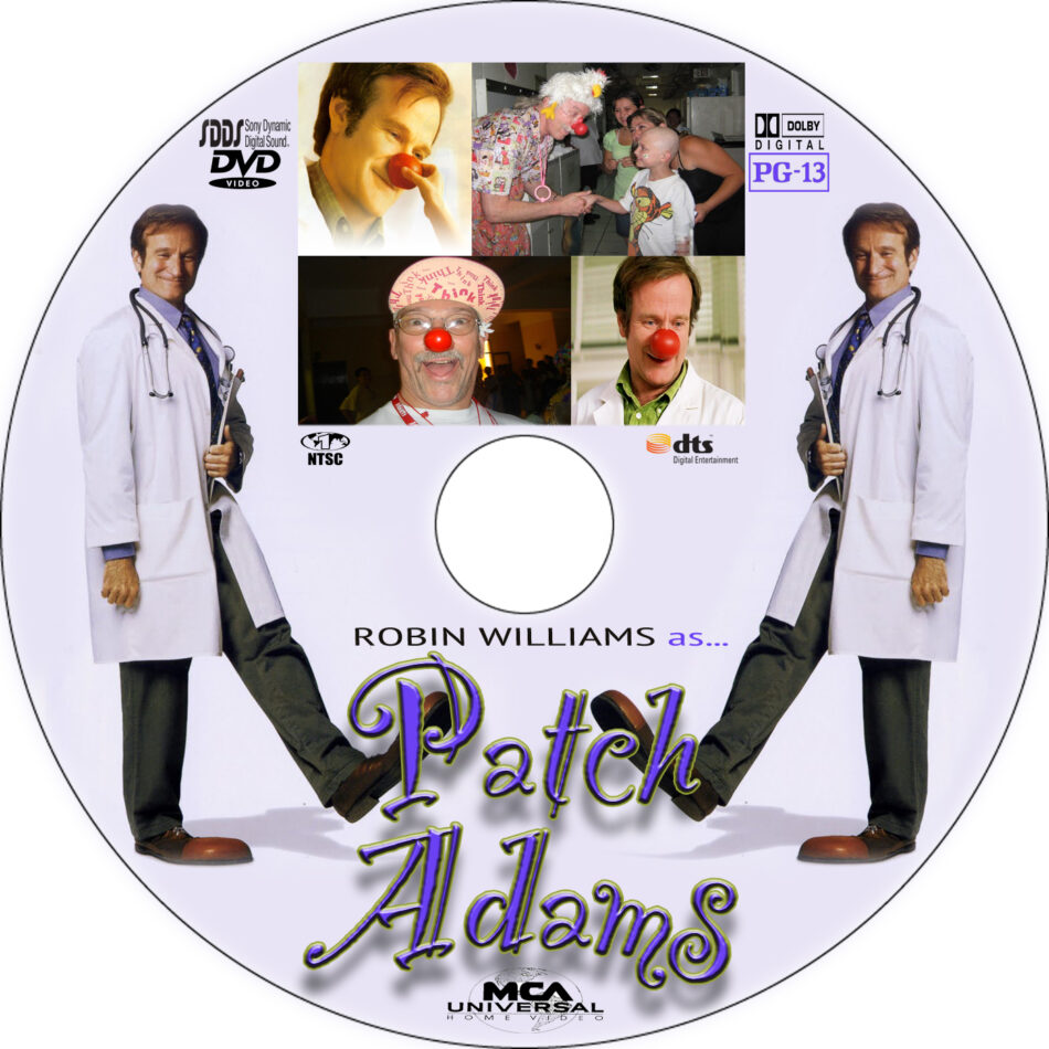 Patch Adams Dvd Label 1998 R1 Custom Art