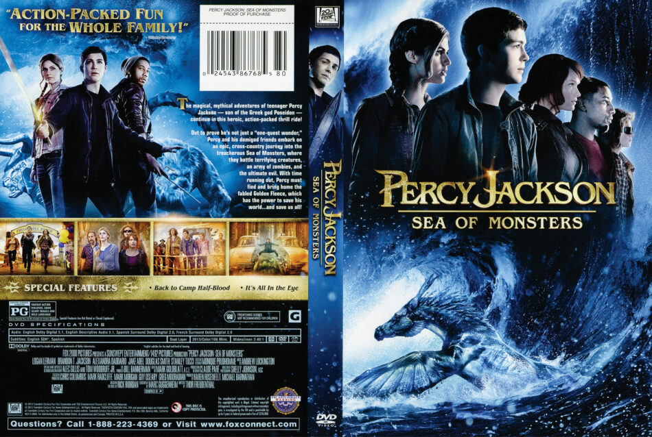 Percy Jackson Sea Of Monsters Dvd Cover 2013 R1