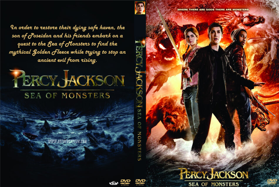 Percy Jackson Sea Of Monsters 2013 R0 Custom Movie Dvd Front Dvd Cover