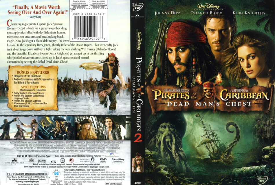 Pirates Of The Caribbean Dead Man S Chest 2006 Ws R1 Movie Dvd Cd Label Dvd Cover Front Cover
