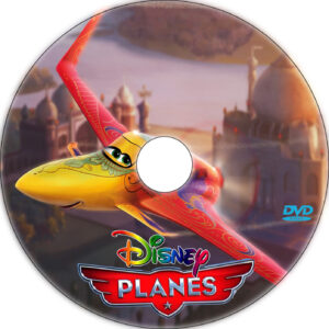 planes dvd label