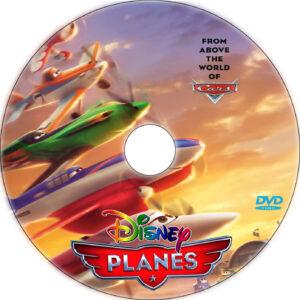 planes dvd label