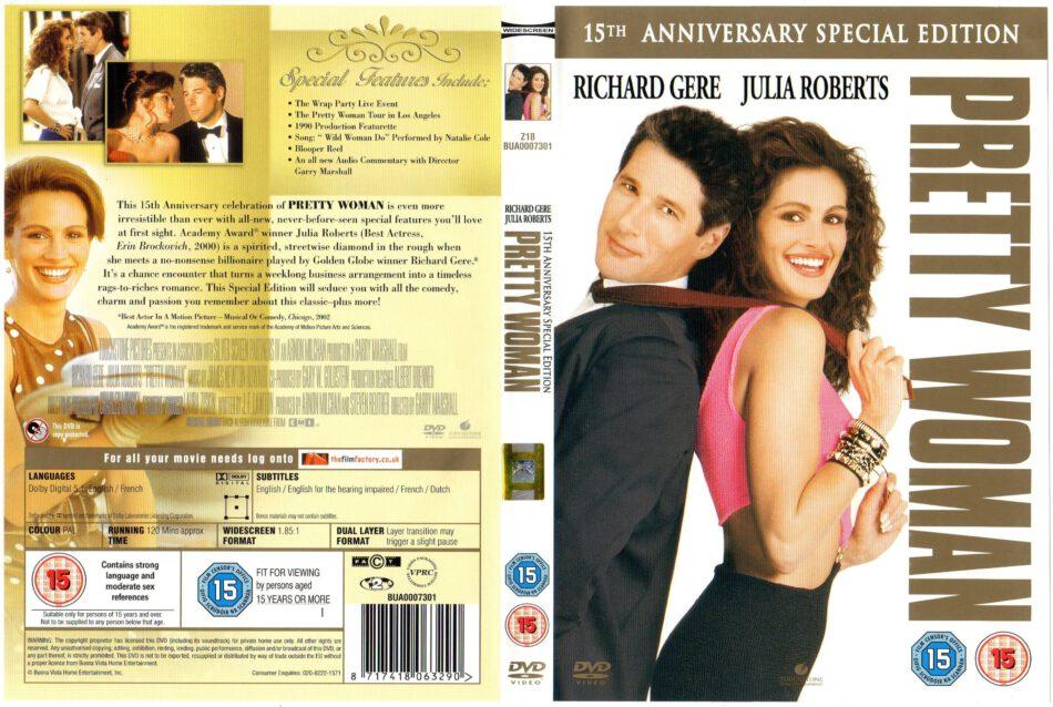 Pretty Woman 1990 Ae Se R2 Movie Dvd Cd Label Dvd Cover Front Cover