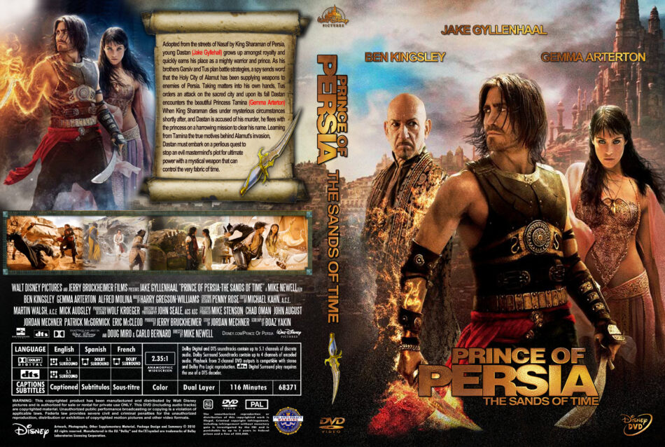 Prince Of Persia The Sands Of Time 2010 Movie Dvd Cd Cover Dvd Cover Front Cover