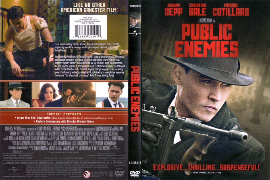 Public Enemies (2009) WS R1 & R4 - Movie DVD - CD Label ...