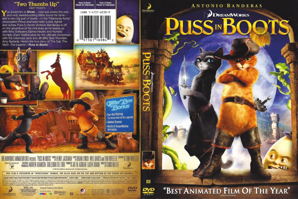 Puss In Boots Cd Cover Dvd Cover Front Cover
