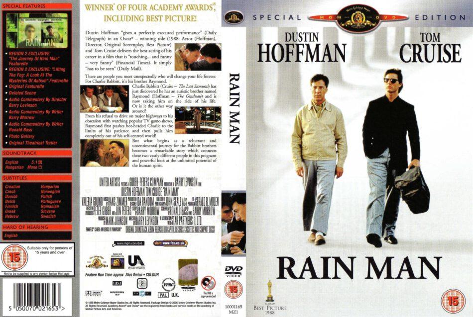Rain Man 1988 Se R2 Movie Dvd Cd Label Dvd Cover Front Cover