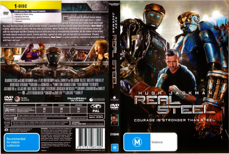 Real Steel 2011 R4 Movie Dvd Cd Cover Dvd Cover Front Cover