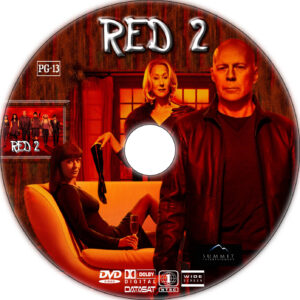 red 2 dvd label