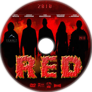 red dvd label