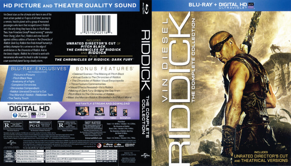 Riddick_The_Complete_Collection_blu-ray dvd cover