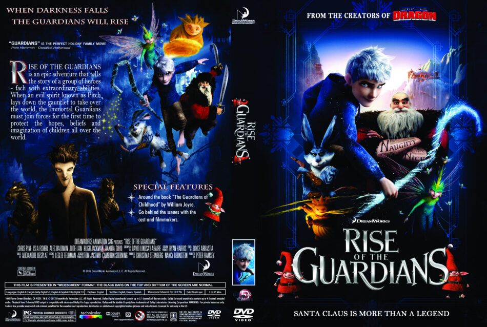 Rise Of The Guardians 2012 R1 Cartoon Dvd Cd Label Dvd Cover Front Cover