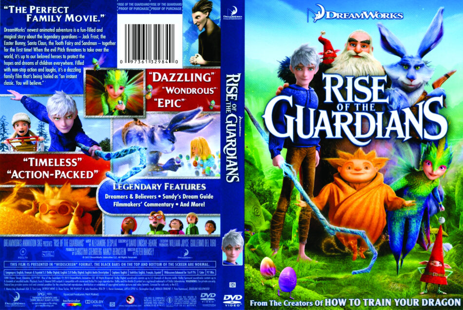 Rise Of The Guardians 2012 Ws R1 Cartoon Dvd Front Dvd Cover