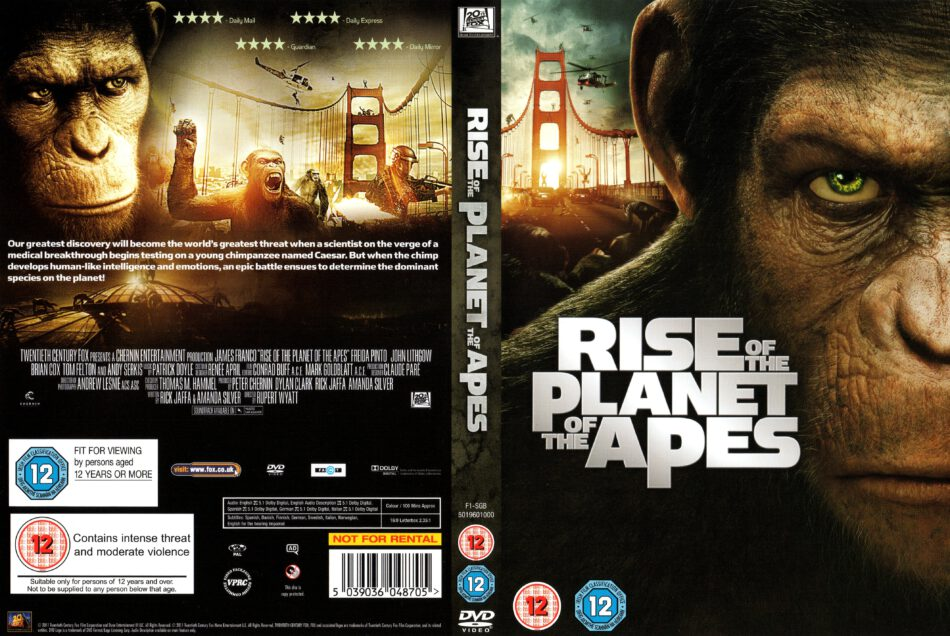Rise Of The Planet Of The Apes 2011 R2 Movie Dvd Cd Label Dvd Cover Front Cover
