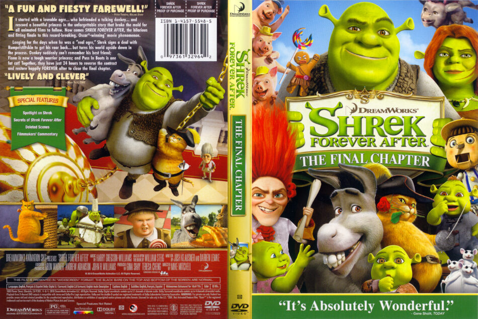 Shrek Forever After 2010 Ws R1 Cartoon Dvd Cd Label Dvd Cover Front Cover Art