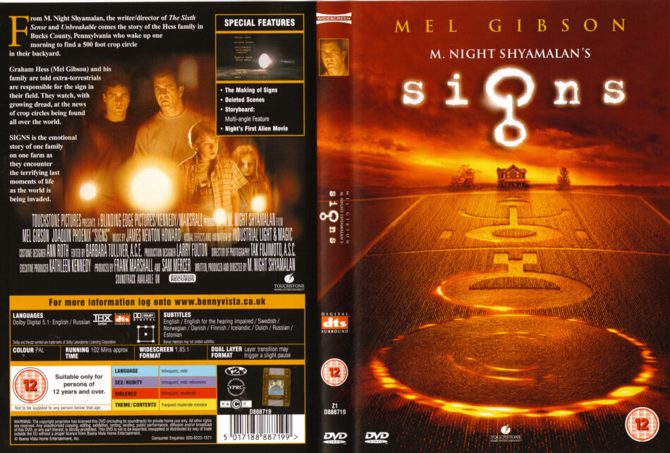 Signs 2002 Ws R2 Movie Dvd Cd Label Dvd Cover Front C0ver