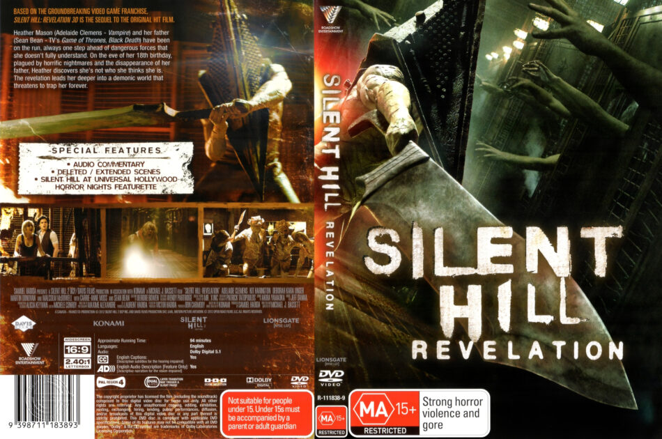 Silent Hill Revelation 2012 R4 Movie Dvd Front Dvd Cover