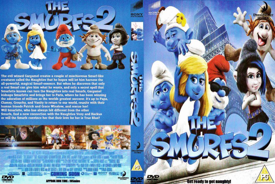 The Smurfs 2 2013 R2 Custom Cartoon Dvd Front Dvd Cover