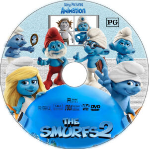 the smurfs 2 dvd label