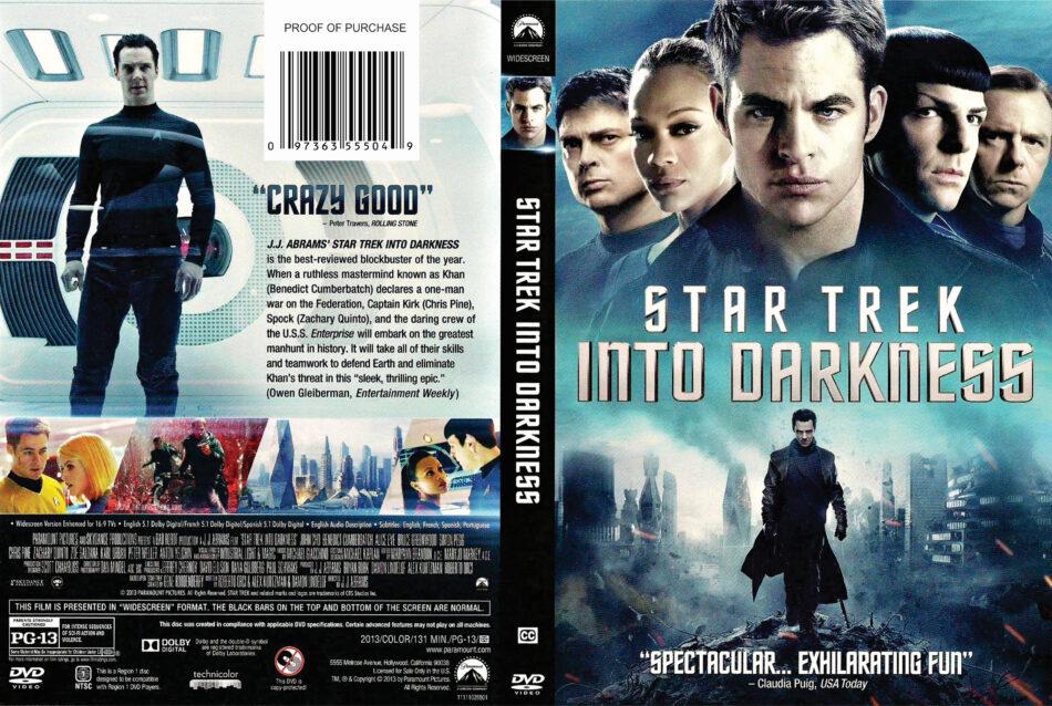 Star Trek Into Darkness 2013 R1 Dvd Cover