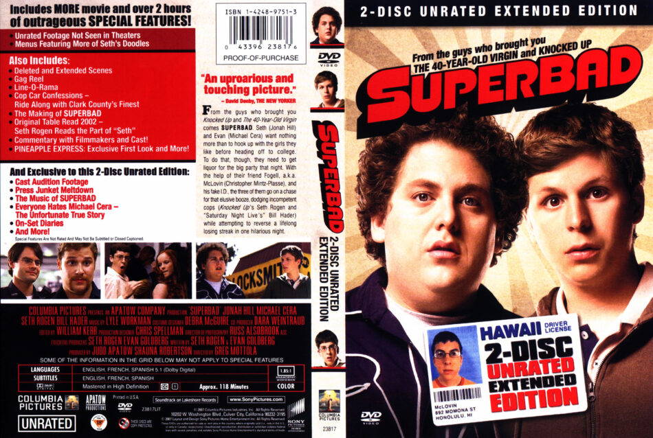 Superbad 2007 Ur Ee Ws R1 Movie Dvd Cd Label Dvd Cover Front Cover
