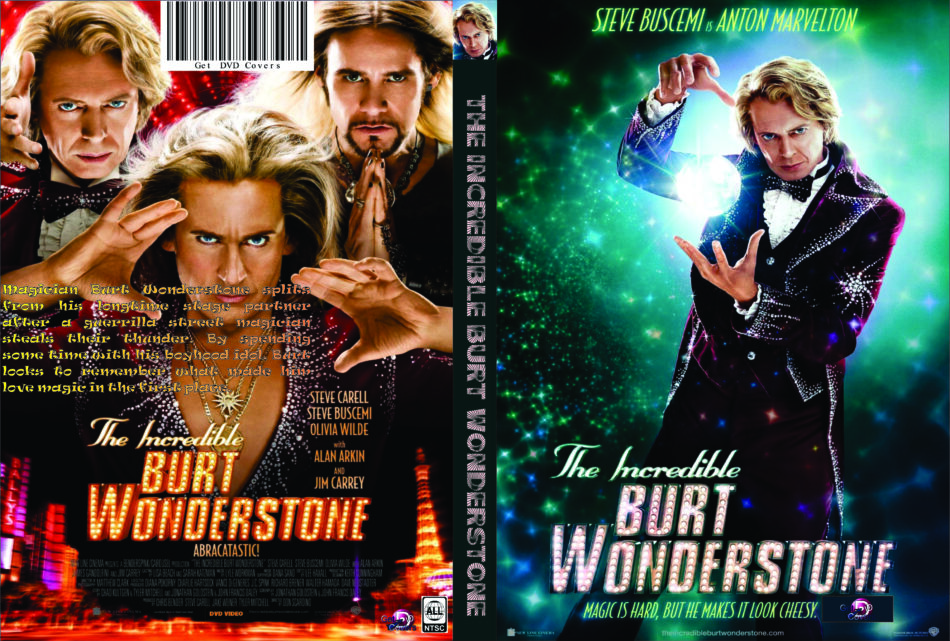 The Incredible Burt Wonderstone 2013 R0 Custom Movie Dvd Cd Label Dvd Cover Front Cover